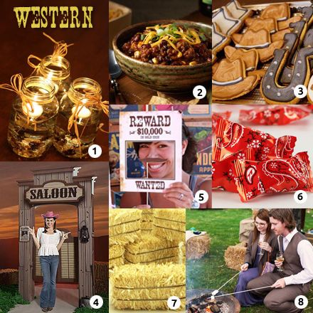 Country western theme decorations party calendar check for Decoration western country