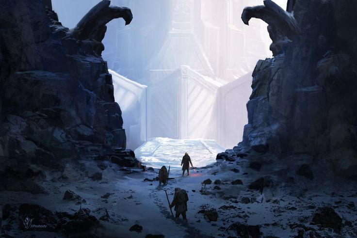 The Journey's End by jjpeabody castle fortress city gate stairs mountains landscape location environment architecture   Create your own roleplaying game material w/ RPG Bard: www.rpgbard.com   Writing inspiration for Dungeons and Dragons DND D&D Pathfinder PFRPG Warhammer 40k Star Wars Shadowrun Call of Cthulhu Lord of the Rings LoTR + d20 fantasy science fiction scifi horror design   Not our art: click artwork for source