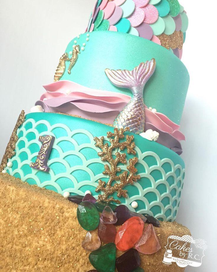 Mermaid inspired cake Cake Decorating Pinterest Mermaid