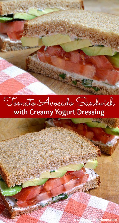 This Tomato Avocodo Sandwich with Creamy Yogurt Dressing makes the most of fresh…