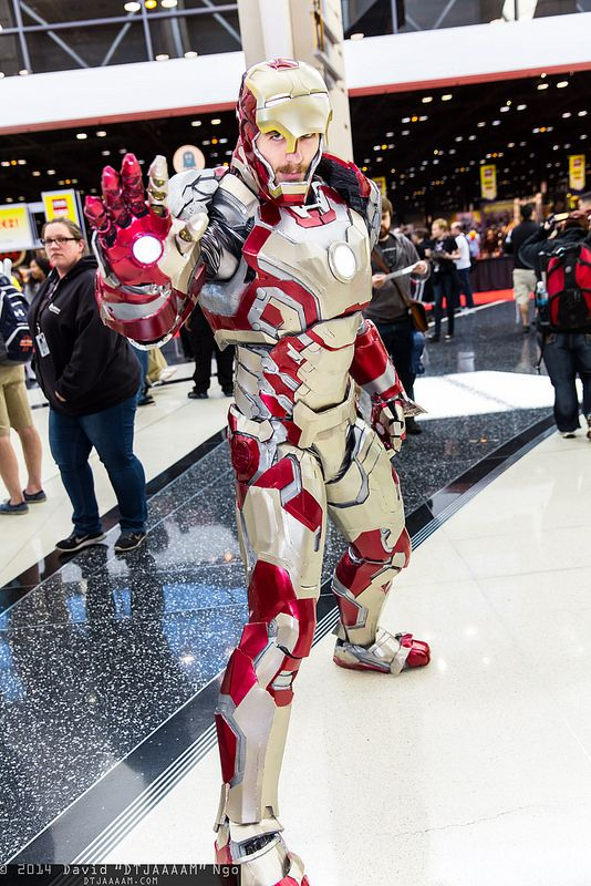 Really quality work, wow. Iron Man #C2E2 #2014 #cosplay
