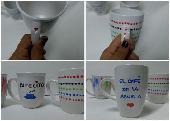 Tazas de café – Cómo hacer tazas de café personalizadas   QueRicaVida.com