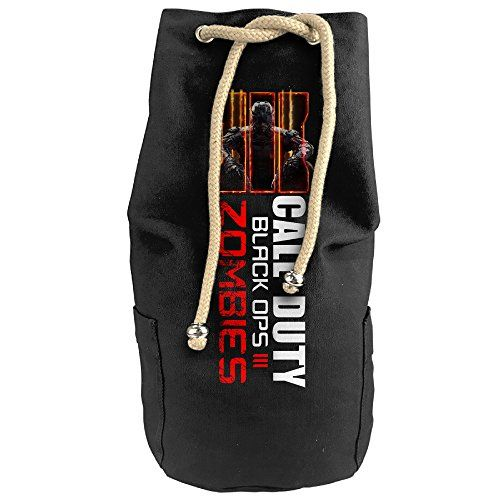 Bandy Black Ops 3 Call Of Dut Canvas Drawstring Backpack Bucket Bag ** Visit the image link more details.