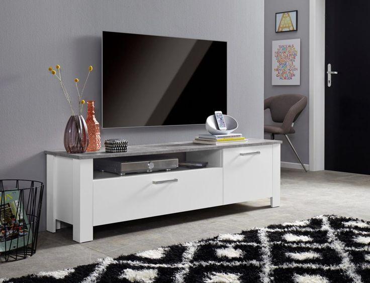 Die besten 25+ Lowboard grau Ideen auf Pinterest Tv wand - wohnzimmer wand grau