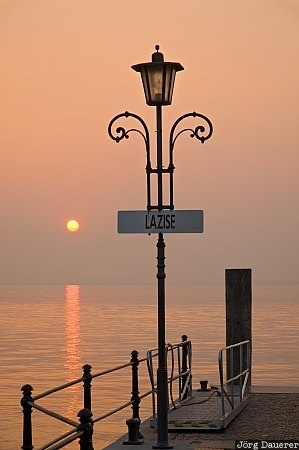 Street Lamp in Lazise