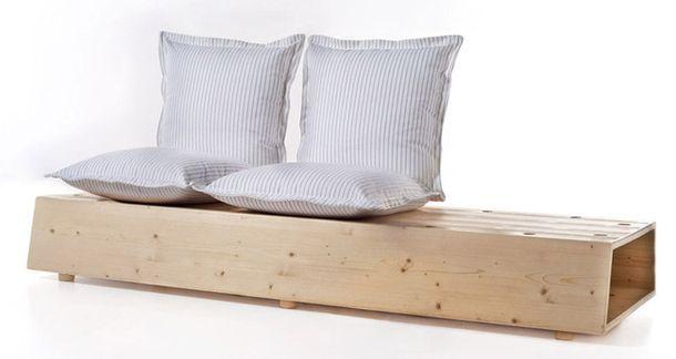 Деревянный диван-трансформер