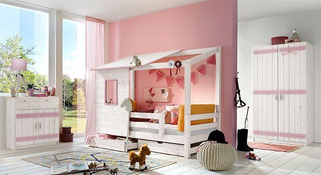 abenteuer bett kids paradise f r m dchen in 90x200cm. Black Bedroom Furniture Sets. Home Design Ideas