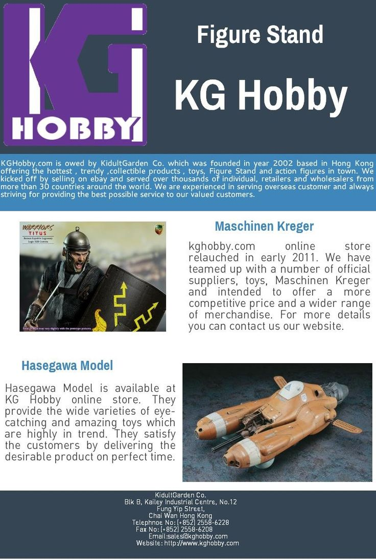 #FigureStand is available at KG Hobby online store. They provide the wide varieties of eye-catching and amazing toys which are highly in trend. They satisfy the customers by delivering the desirable product on perfect time.