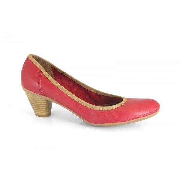 MARCA: Mikaela  Colección: Primavera Verano 2013  Zapato de mujer para utilizar a diario, cómodo y de calle. Salón de tacón bajo y ancho. Pi...