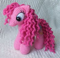Pelo rizado amigurumi mi pequeño pony