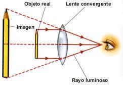 Resultado de imagen para lentes convergentes lupa