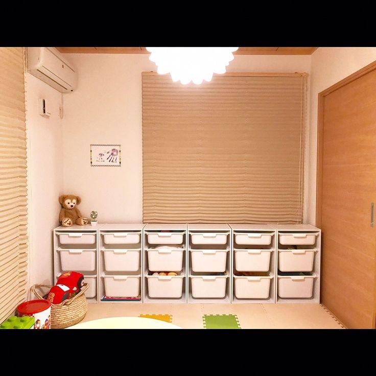 6畳和室/こどもと暮らす。/北欧インテリア/シンプルライフ/シンプル/IKEA…などのインテリア実例 - 2017-01-28 21:19:37   RoomClip(ルームクリップ)