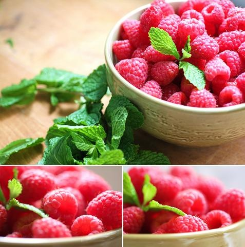 rasberry, green, neutrals