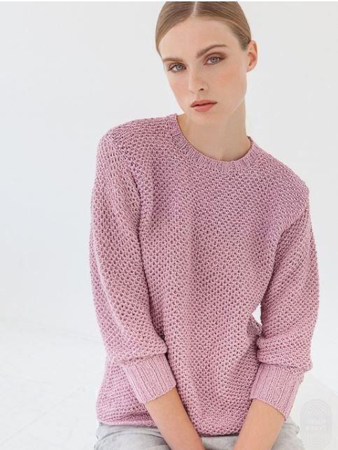Розовый сетчатый джемпер спицами Очень простой и при этом изысканный. Обсуждение на LiveInternet - Российский Сервис Онлайн-Дневников