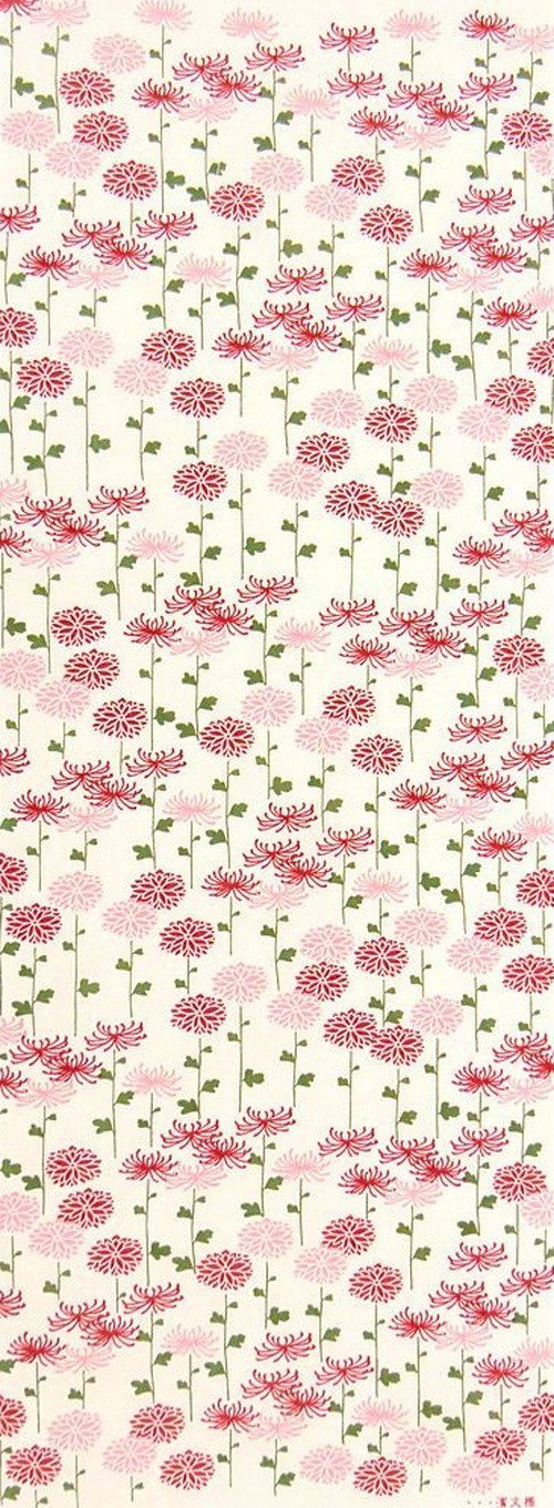 Japanese Tenugui Cotton Towel Fabric, Chrysanthemum Flower, Floral Design, Hand Dyed Fabric, Wall Art Hanging, Gift Wrapping, Scarf, JapanLovelyCrafts