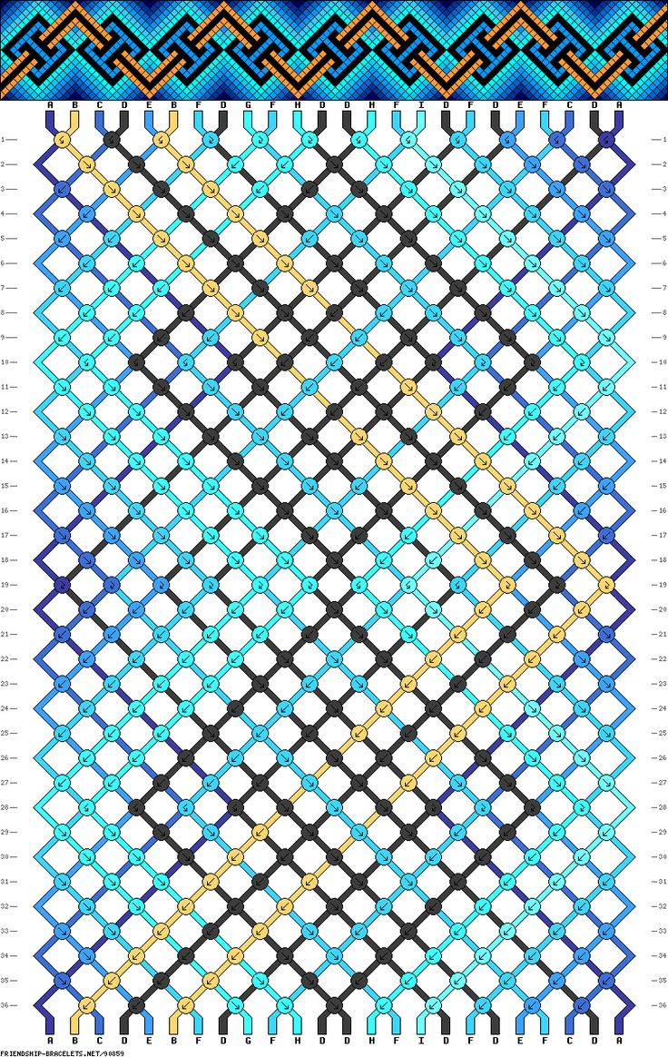 Muster # 90859, Streicher: 24 Zeilen: 36 Farben: 9