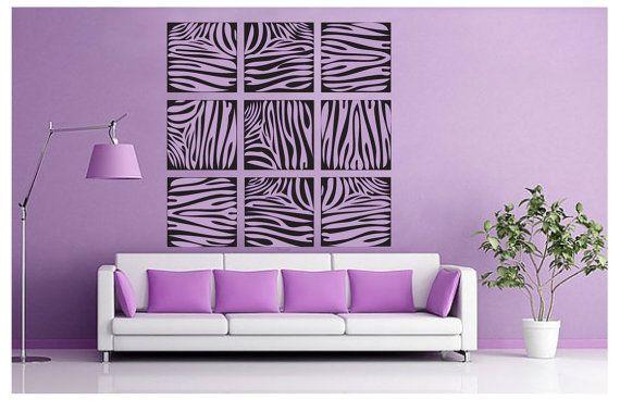 zebra print wall decals