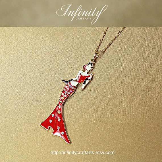 #Rhinestone #Enamel #Fashion #Lady #pendant by #InfinityCraftArts https://www.etsy.com/ca/listing/241497566/rhinestone-enamel-fashion-lady-pendant?ref=shop_home_active_1