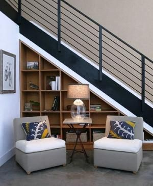 Under the stairs storage by mamie