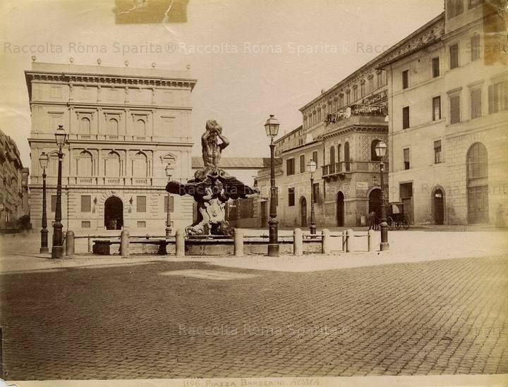 Piazza Barberini Anno: 1875 ca