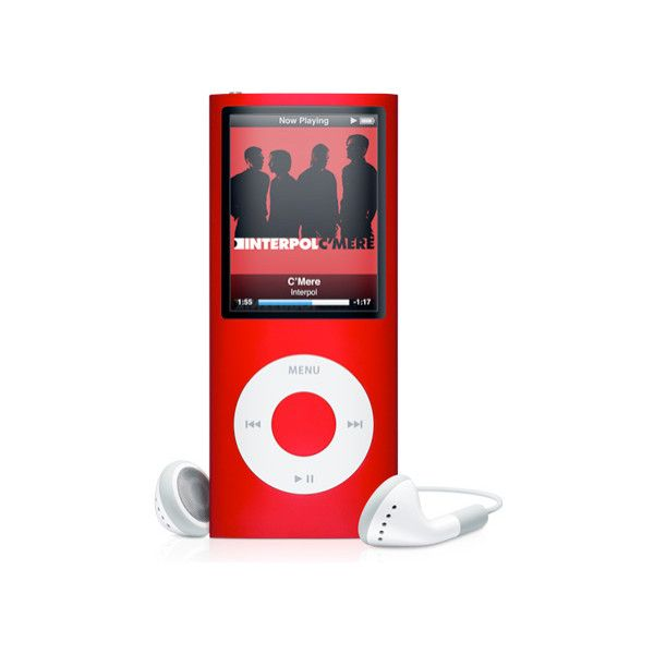 Red ipod Nano 4th Generation ❤ liked on Polyvore featuring electronics, ipods, accessories, fillers and red