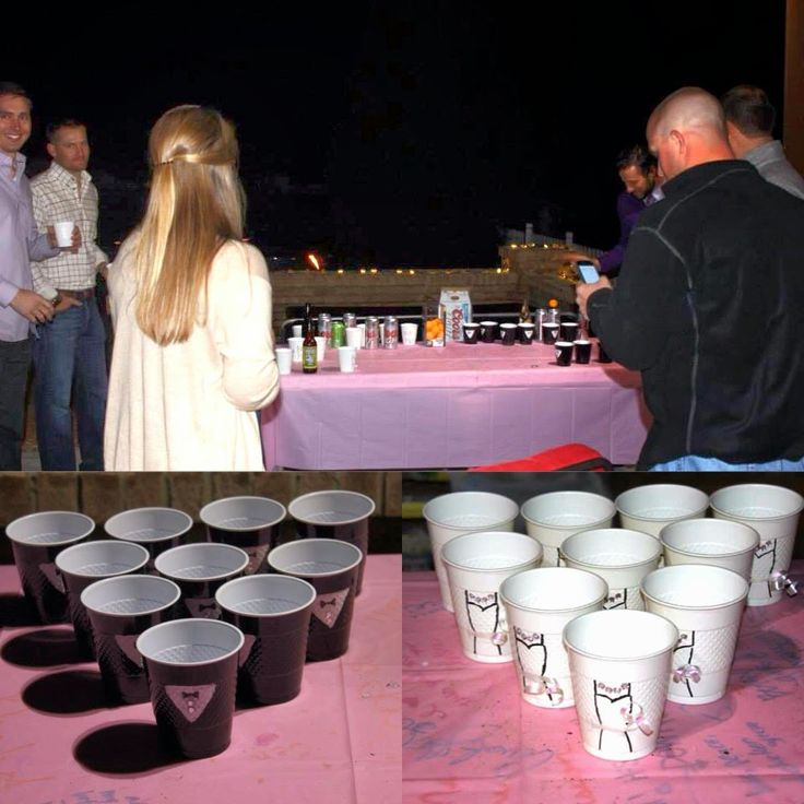 wedding themed beer pong