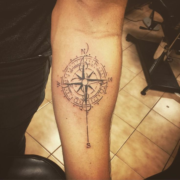 Did this yesterday #compass #nautical #tattoo #sketch #tattoos #compasstattoo…