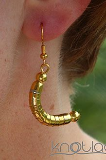 Knotlace Earrings – Gold. - http://www.knotlace.com.au/ #style #fashion #accessory #jewellery #goldaccessory