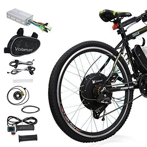 Voilamart 36v 500w Electric Bike Conversion Kit 26 Rear Wheel Hub Motor Intelligent Controller And Pas System Electric Bicycle Kit Electric Bicycle Electric Bicycle Conversion Kit