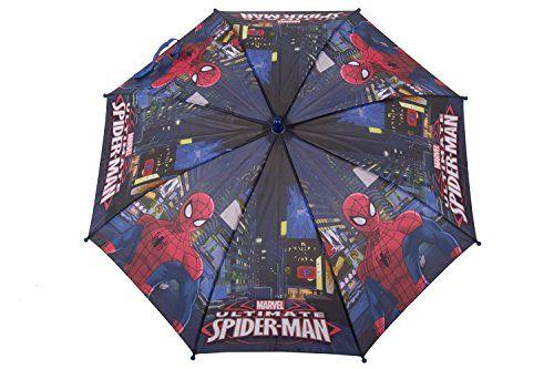 Paraguas niño largo PERLETTI MARVEL SPIDERMAN azul LOGATO manual Q961 - http://comprarparaguas.com/baratos/marvel/paraguas-nino-largo-perletti-marvel-spiderman-azul-logato-manual-q961/