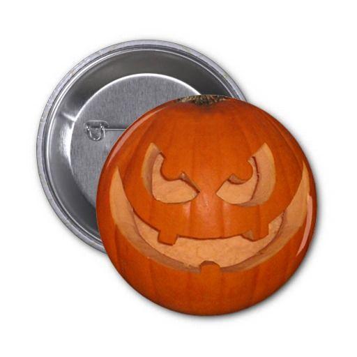 Pumpky The Jack-o'-lantern Button #zazzle #jackolantern #halloween