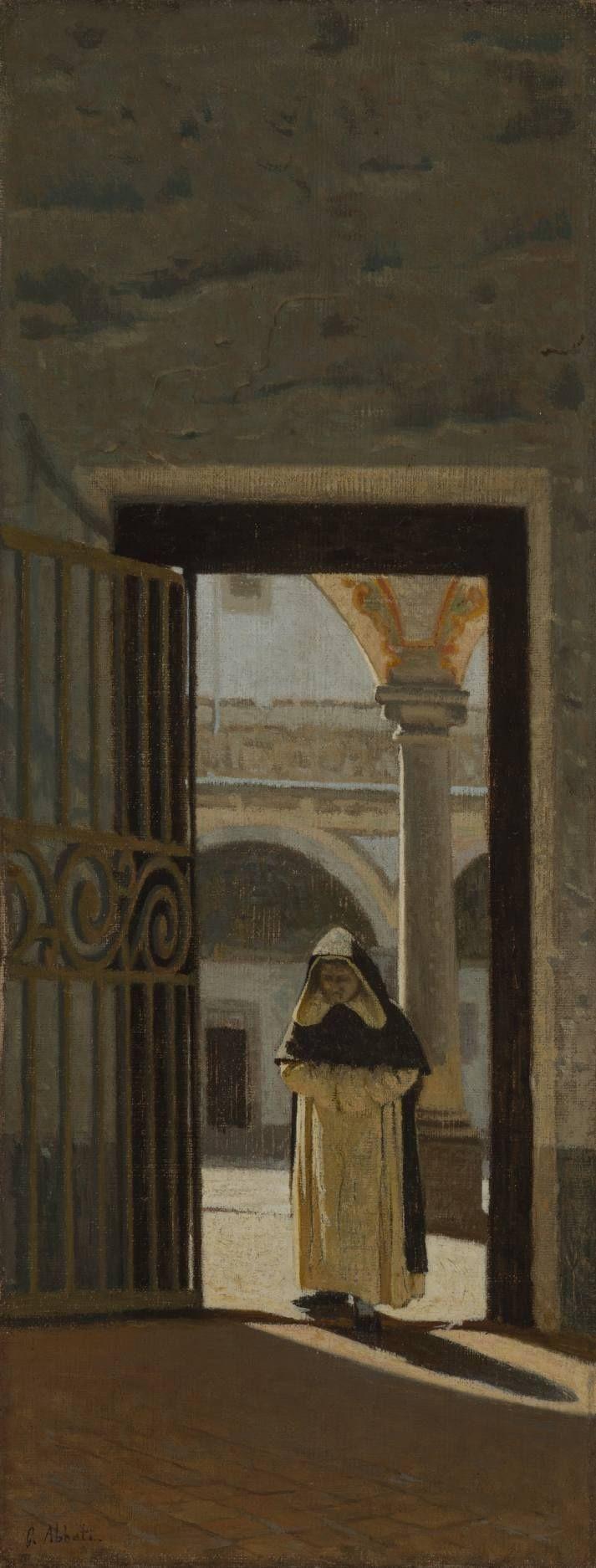 Firenze, interno di un chiostro (San Marco), 1864-1865 ca – Giuseppe Abbati