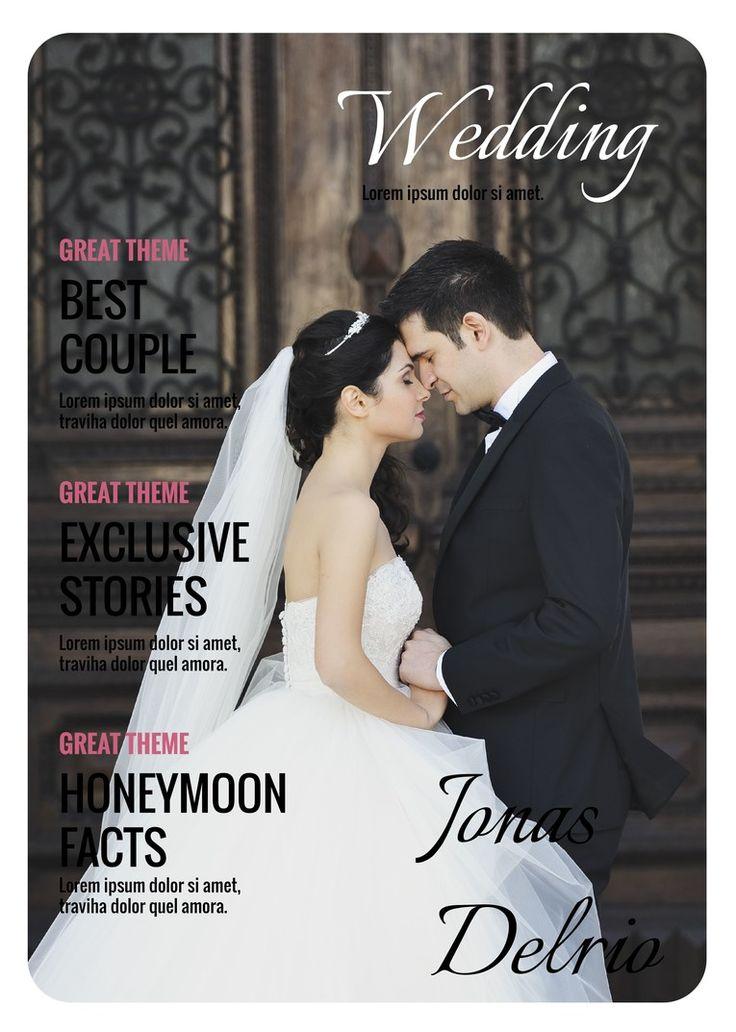 Hochzeitszeitung Cover, Titelseite Hochzeitszeitung, Magazin Cover. Jetzt kostenlos erstellen und drucken unter https://de.magglance.com/hochzeitszeitung/hochzeitszeitung-erstellen