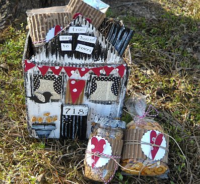 how to make a recycled cardboard house house warming gift recycled crafts - Unique House Gifts