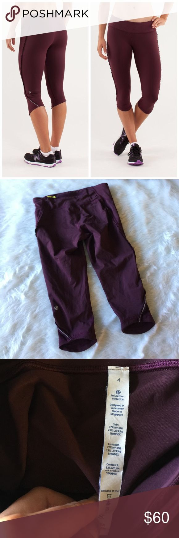 NWOT Lululemon Run: Fast and Free Crop This crop is in perfect condition! Size 4. No flaws like stains or holes. No trades. Offers welcome! lululemon athletica Pants Leggings