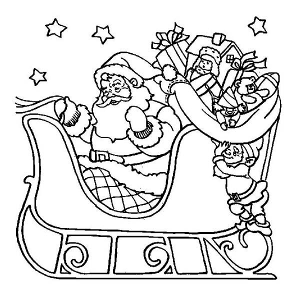 Santa Sleigh Coloring Page Inspirational Index Of Wp ...