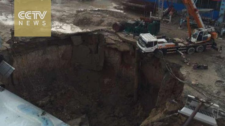 Dramatic video: Guangdong land subsidence, one killed