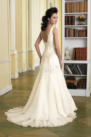 Sweet hot sale wedding dress with tempting v neck and for Yellow wedding dresses for sale