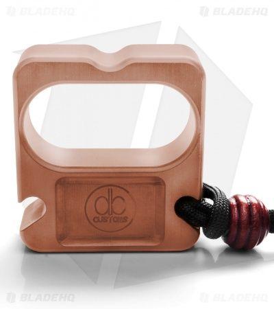 DB Customs The Crook Double Knuck Bottle Opener EDC Keychain Copper