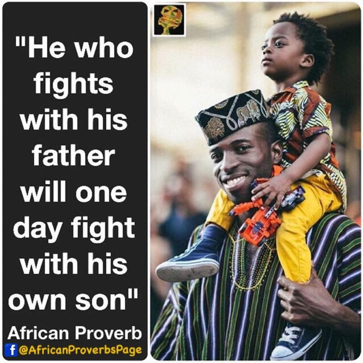 👆🏿FOLLOW for daily AFRICAN PROVERBS👆🏿 African Proverb:He who fights with his father will one day fight with his own son Meaning: Your actions today are seeds that will bear fruits in future. You reap what you sow. This is not a prophesy. It's a principle. Country's Proverb: Nigeria #africanproverb #Africa #Nigeria #wisdom #truth #heritage #principles #wise #character #motivation #inspiration #parent #patience #morals #proof #advice #equip