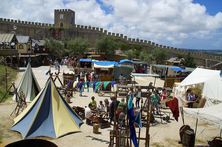 A view of the Obidos Castle and Medieval Fair