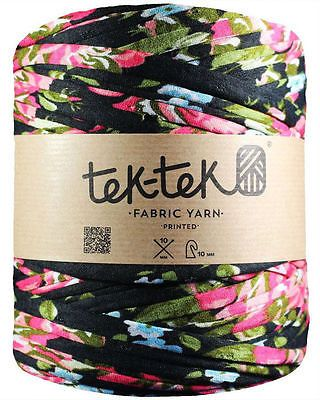 Tek-Tek fabric t-shirt yarn - Extreme knitting jumbo crochet - Colourful print in Crafts, Crocheting & Knitting, Wool & Yarn | eBay