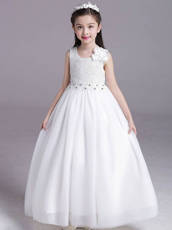 9bb11aa76c0 Bow Lace Flowers Party Long Dress Lace Flowers