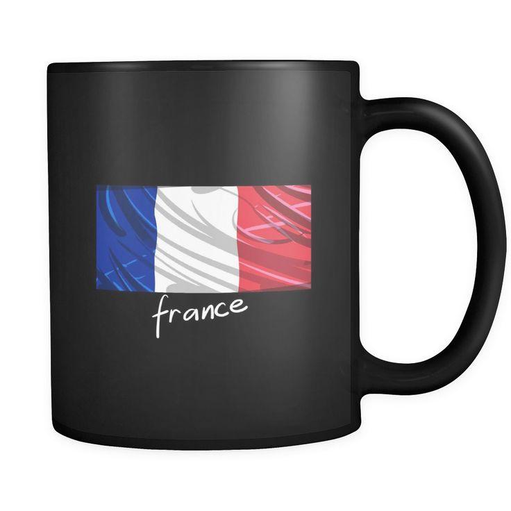 France Graphic Patriotic Vintage Flag Mug