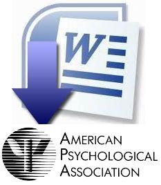 Plantilla en Word con normas APA actualizadas (Sexta edición). Descargar formato APA en word.