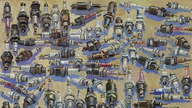 Spark plugs, 2008, by Lucy Culliton