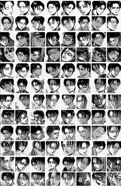 Bless the person who put this together, I'm sure it took a lot of time | progression of Levi throughout the manga | Shingeki no Kyojin