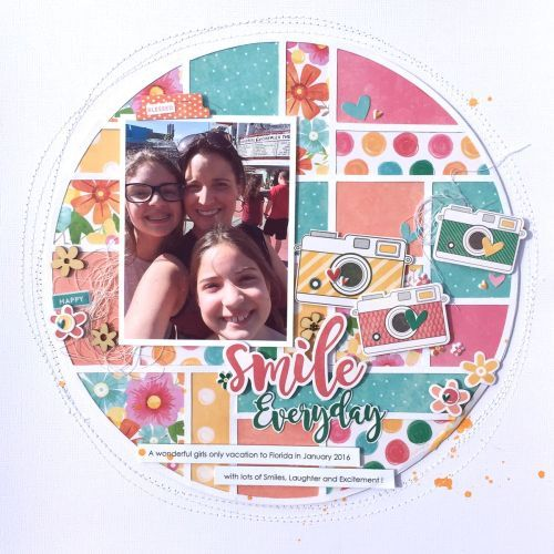 Smile Everyday Layout by Kristine Davidson featuring Jillibean Soup Bowl of Dreams