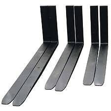 NEW FORKLIFT FORKS FOR SALE(Suitable for 2.5 ton forklift)Class 2A40mm    Thickness100mm   Width1200mm LengthPrice per set (Exclusive of V.A.T.):  R3 240.00Limited offer