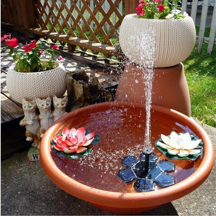 Enjocho Solar Fountainsolar Powered Bird Bath Fountain 400 x 300